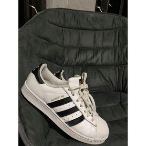 Adidas Superstars Mens SZ 9 White Black